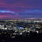 View from Runyon canyon just before sunrise.