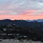 Hollywood sign view from the top