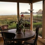 View of Cape Disappointment from living area of China Beach Retreat