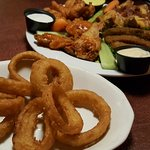 sampler and onion rings