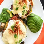 The Lab/ Eggs Benedict on Corn Fritters