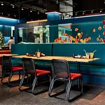 TANK offers Japanese comfort food, coffe, tea and desserts in uderwater world atmosphere
