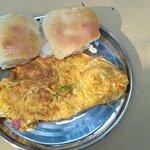 Omelette pav breakfast
