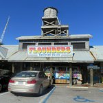 front of the Flounders Chowder House