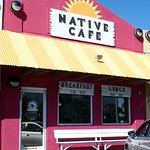 front of & entrance to Native Cafe