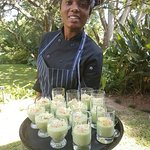 Chef & Chilled cucumber soup shots