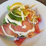 Salmon and Avocado Salad, very yummy