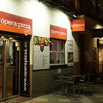 The small restaurant is very close to Opera metro station
