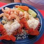 Maro's Shrimp House - shrimp/lobster combo $16.95