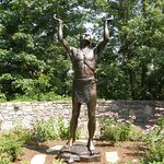 """""""Oh Great Spirit"""" depicts a Native American raising his hands in supplication."""