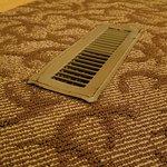 sharp, borken floor vents