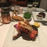 Ribeye and lobster