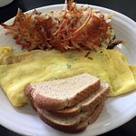 Route 66 diner omelet