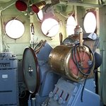 The conn, conning space, this is where you drive the boat. Look at those voice tubes.