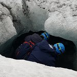 Exploring the glacier