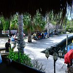 View from Tiki bar outside seating