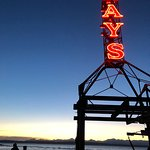 Ray's as the sun slips out of sight