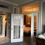 Doors to the bedroom.