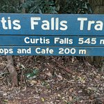 Sign of the Curtis Falls Track
