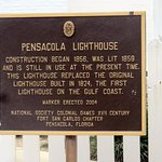 plaque about the Pensacola Lighthouse