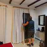 Trying to attach the sliding screen door