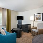 One Bedroom Suite - Full Size Sofa Bed, Over Stuffed Recliner and Large Screen TV
