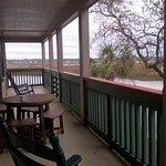 Huge covered balcony overlooking the creek!
