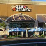 front of, entrance & patio for Ben & Jerry's