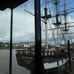 The replica famine ship.