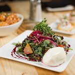 Beet & burrata salad -- a house favorite.
