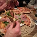 Pizzas at Osteria