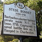 Just up the road from the Maritime Museum is the spot where the pirate Stede Bonnet was captured