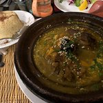 Lamb tagine with prunes & apricots