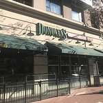 Donovan's Restaurant, from the street. Subdued and elegant in every way