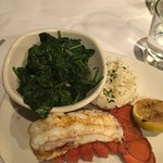 Cold Water Lobster Tail, Sautéed Spinach, Mashed Potatoes