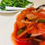 Sweet & sour seabass fillet