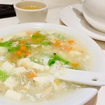 Mixed seafood & bean curd soup
