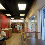 dining area towards the counter at Wendy's