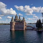 View of Boldt Castle from the boat