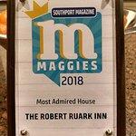 One of the Robert Ruark Inn's recent awards!