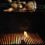 Wood fired rotisserie and grill