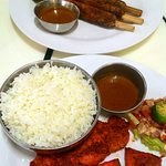 Kebab Meal and Chicken Tikka with Rice