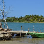 Boat taxi service included from the opposite shore where the road and the beach end