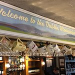 Over the bar at the Merry Ploughboy