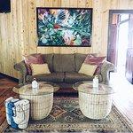 The bar at Trogon Lodge