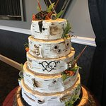 Birch wedding cake at How Sweet It Is Cakes