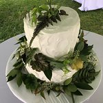 Rustic themed wedding cake at How Sweet It Is Cakes