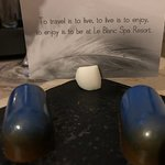 delicious truffles with a personalize message found in your room every night