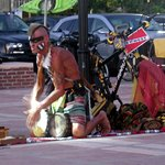 one of the performers at Mallory Square