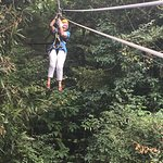 Me - Suzanne McConnell - on the zip line